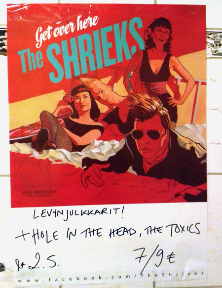 The Shrieks poster, by the Shrieks