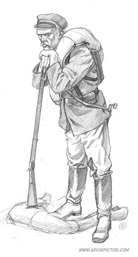 Kaartilainen (luonnos), kuvittaja / illustrator Ossi Hiekkala 2015
