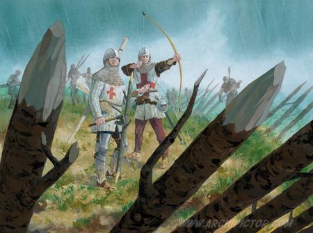 English Archer 1415, kuvittaja / illustrator Ossi Hiekkala