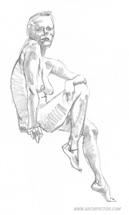 Croquis Taidehalli 7.4, kuvittaja / illustrator Ossi Hiekkala 2015