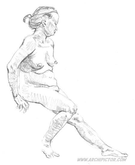 Croquis Taidehalli 16.5, kuvittaja / illustrator Ossi Hiekkala 2015