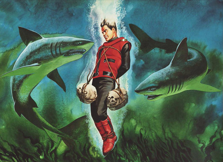 Ron Embleton / Captain Scarlet end credits for television series / http://www.spectrum-headquarters.com/ron_embleton.html