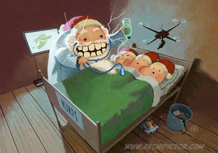 Boogie -joulukortti, kuvittaja / illustrator Ossi Hiekkala 2015