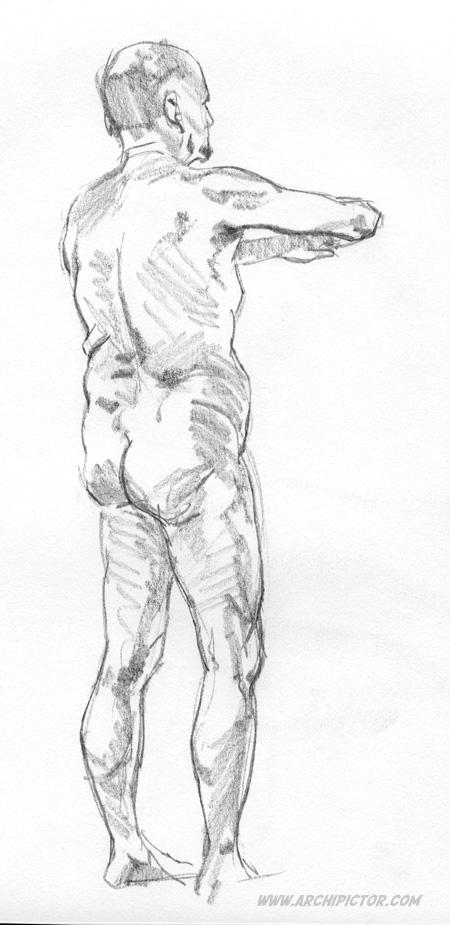 Croquis Taidehalli 8.12., kuvittaja / illustrator Ossi Hiekkala 2015