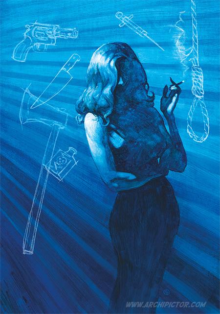 Se murhaa joka osaa, kuvittaja / illustrator Ossi Hiekkala 2016