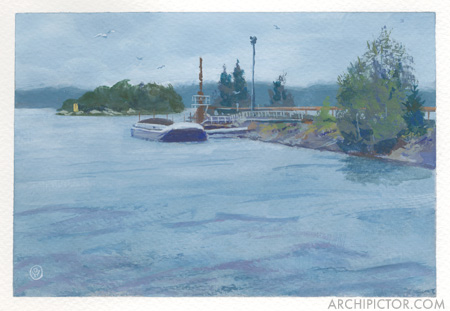 Kuopio, 22.7.2016, kuvittaja / illustrator Ossi Hiekkala