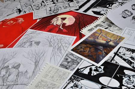 Nimettömien hautojen maa -näyttely, Turun sarjakuvakauppa