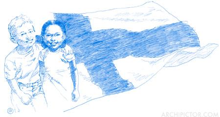 Suomen Unicef ry, kuvittaja / illustrator Ossi Hiekkala 2016