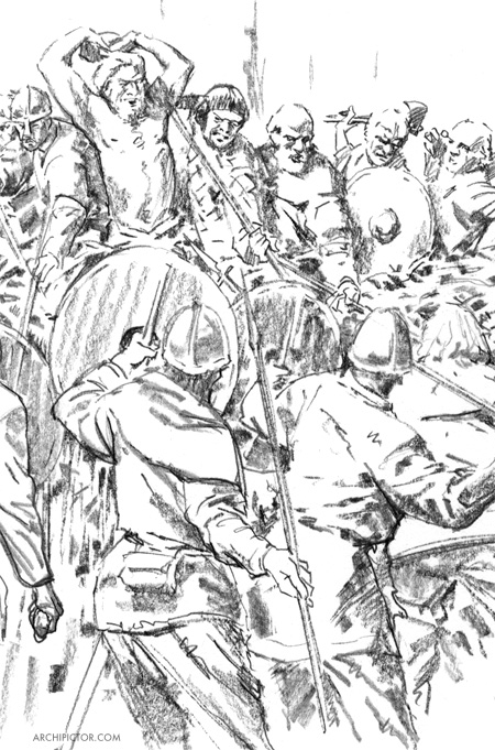 Viikingit, Tiede 9/17, kuvittaja / illustrator Ossi Hiekkala 2017