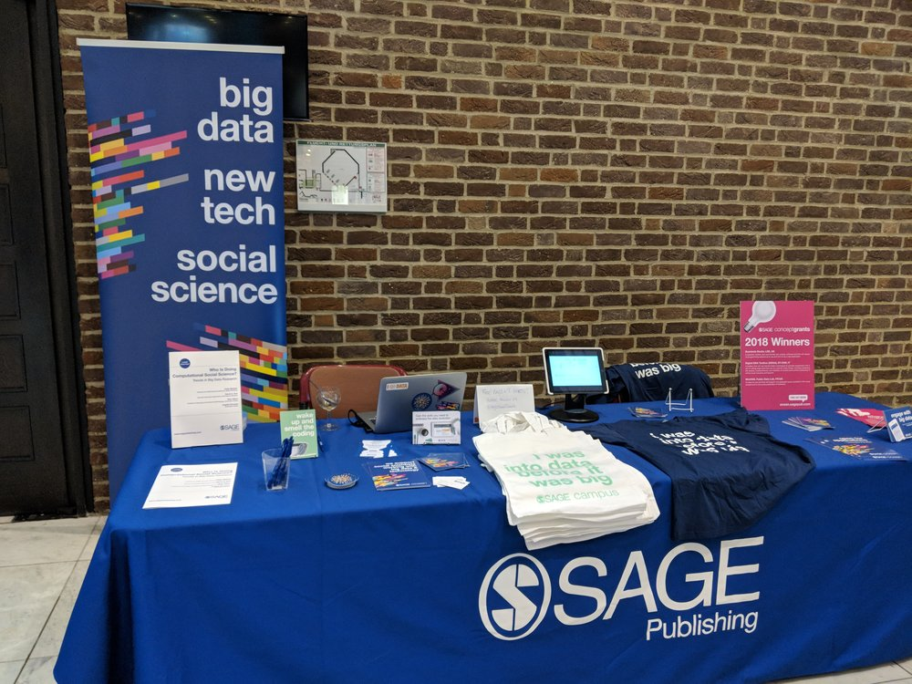 SAGE stand at the European Symposium on Societal Challenges in Computational Social Science