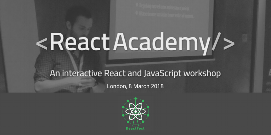 ReactFest x ReactAcademy.io - Adavanced React.JS Worksop training