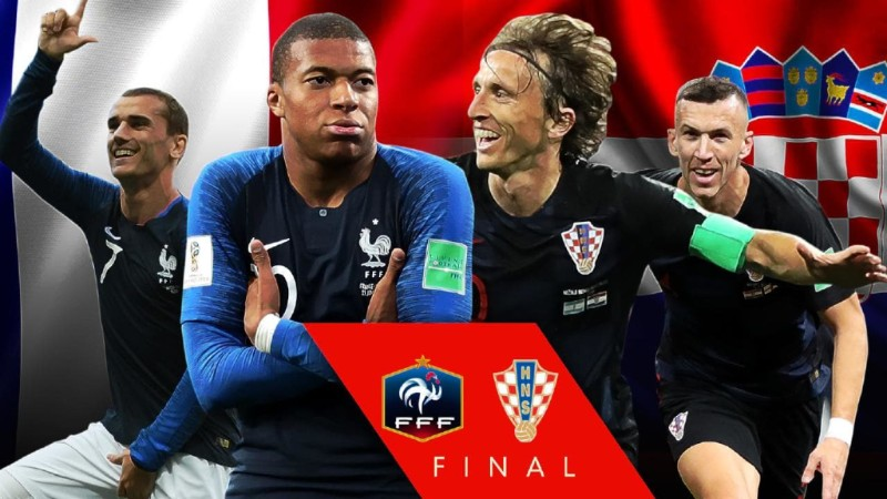 France play Croatia in the World Cup Final