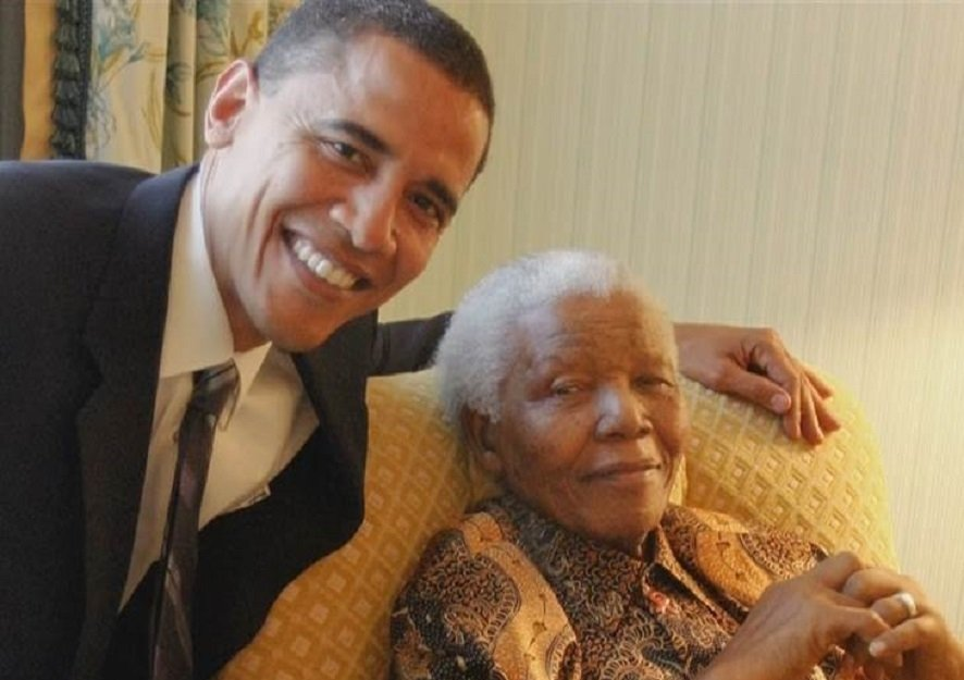 Obama and Mandela together.