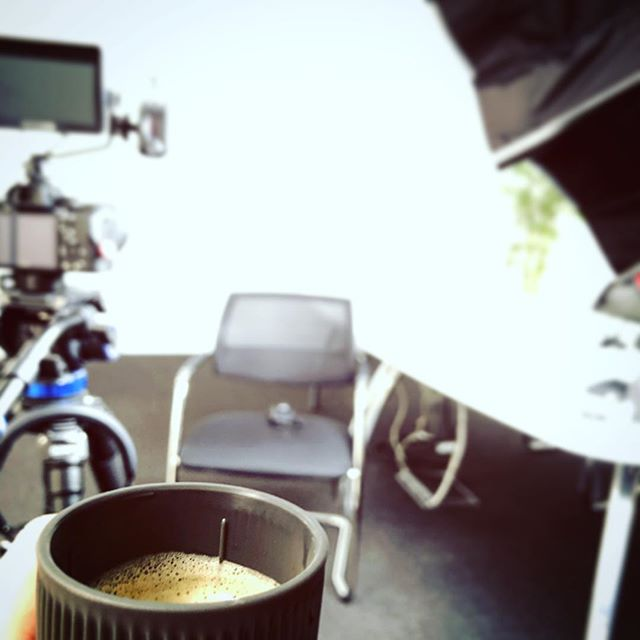 Scene lit, coffee poured, questions ready on set with the lovely folk @calahomes today, ready to talk about their amazing charity work in #cambodia! Just need the talent now... 😎🎬 #filmmaking #videoproduction