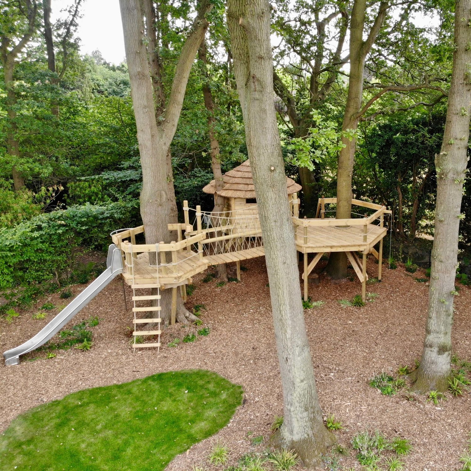 Treehouse Rope Bridge Landscape Garden Project Rope