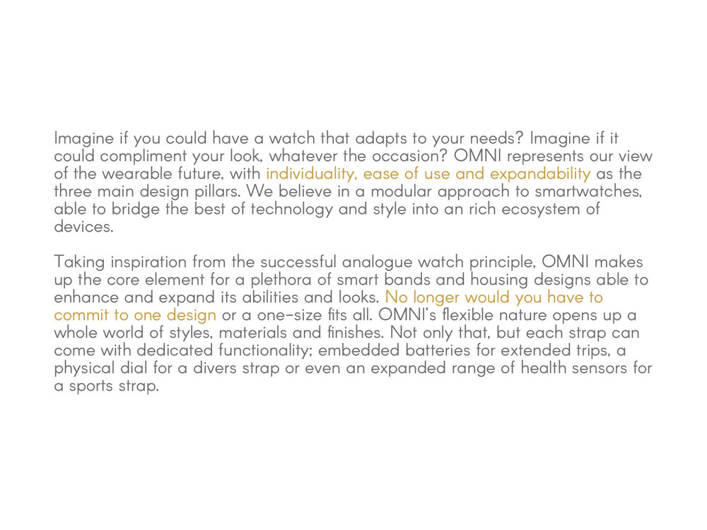 Our introductory statement on Omni's purpose