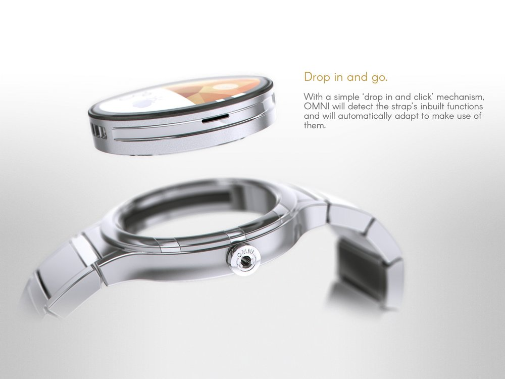Omni module hovering above a watch case