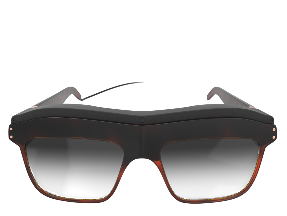 Front view of the woman's concept design WaveOptics glasses