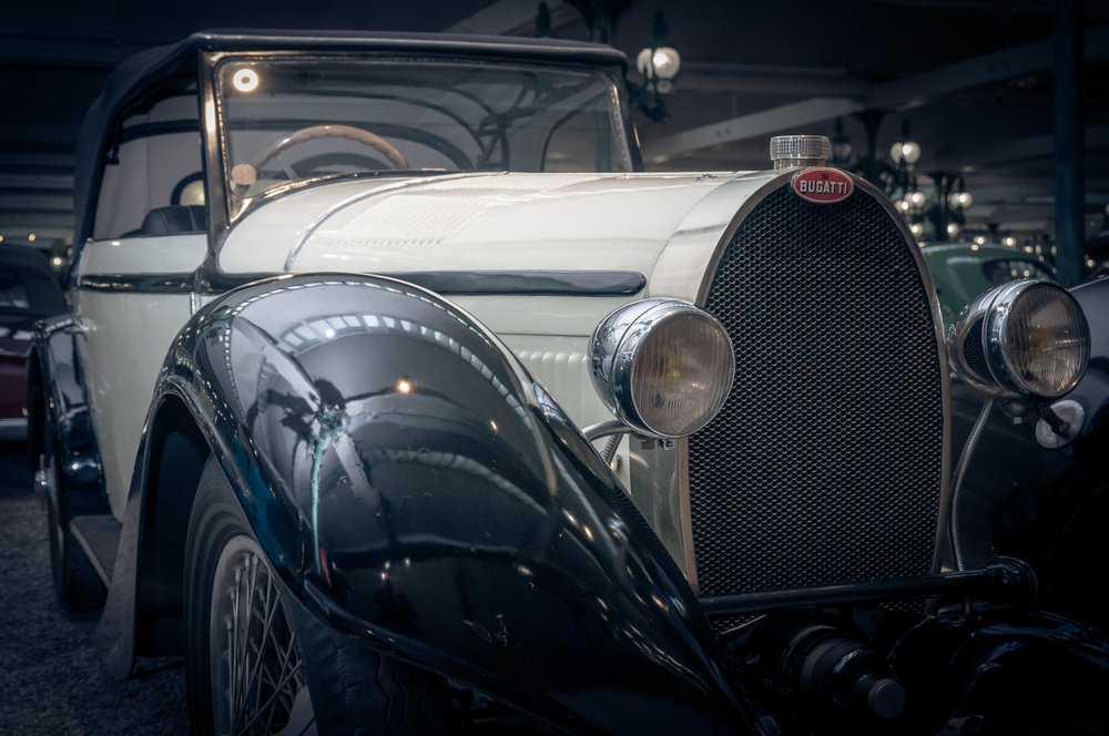 A Bugatti in white (Credit: Paul Scarfe)