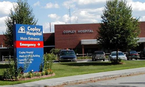 Copley Hospital  528 Washington Hwy, Morrisville, VT 05661 p: (802) 888-888 w: www.copleyvt.org
