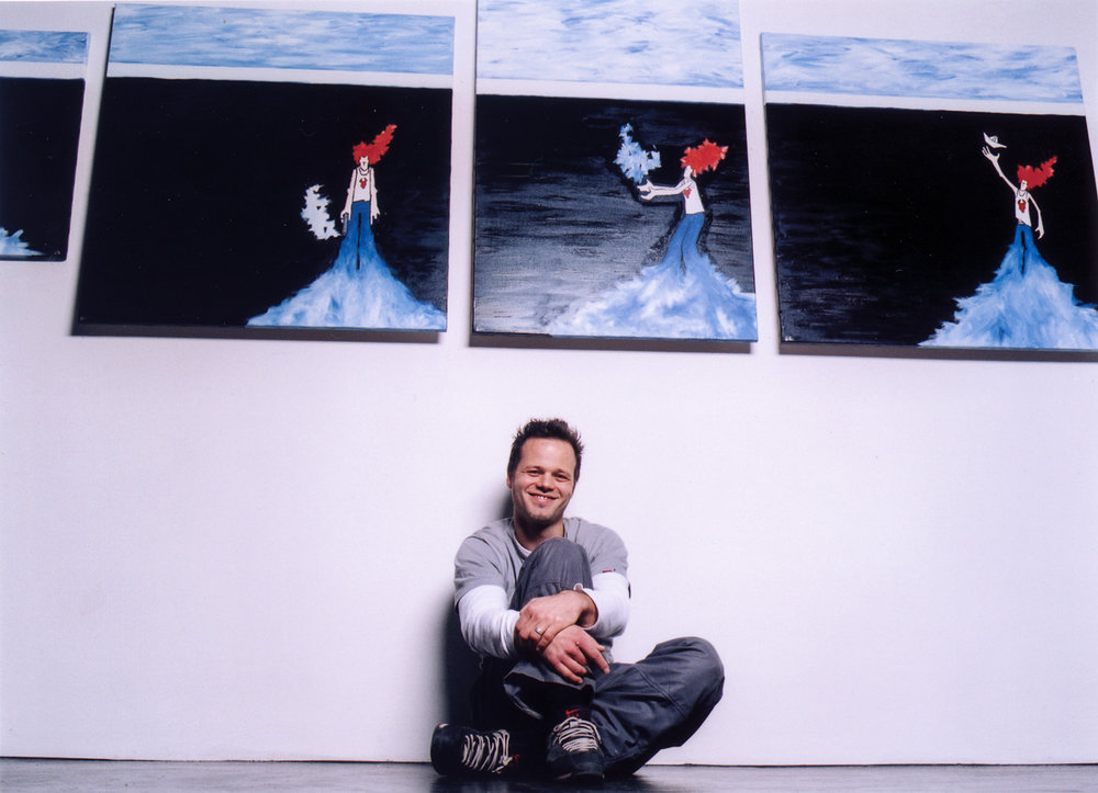 Jörg Heikhaus 2002 at his studio that became the heliumcowboy artspace.