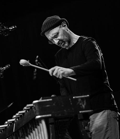 Jorge Rossy sammen med Aarhus Jazz Orchestra på Alas i Aarhus, Live