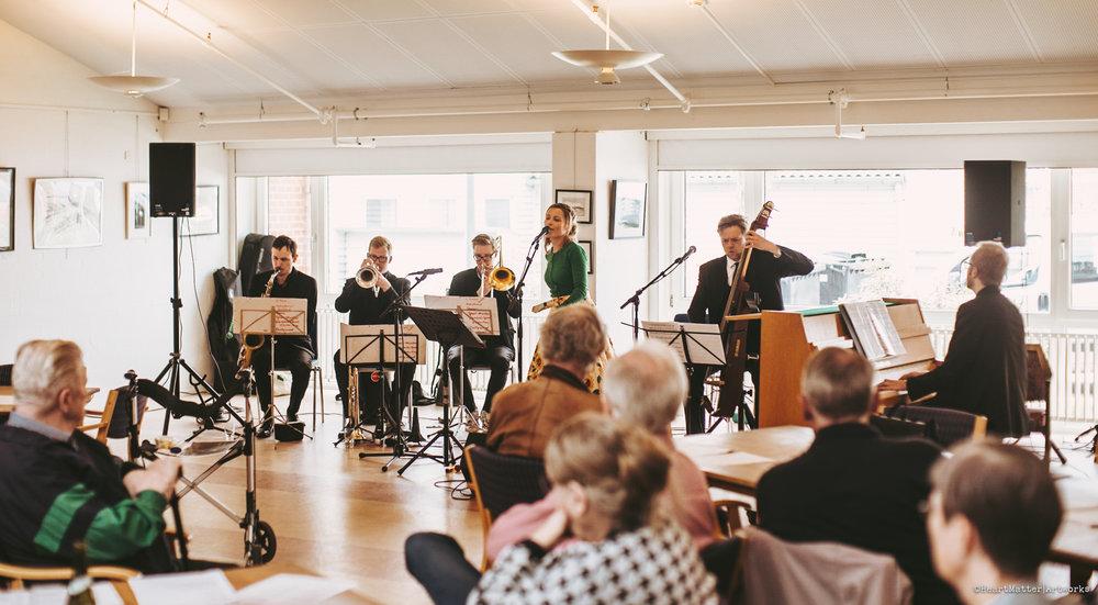 LOKALCENTERKONCERTER 2018  Musikere fra Aarhus Jazz Orchestra feat. Karoline Gro Budtz    April 2018