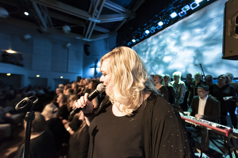 GOSPEL OG BIGBAND  Marie Carmen Koppel, Aarhus Jazz Orchestra & Århus Gospel Singers  November 2018