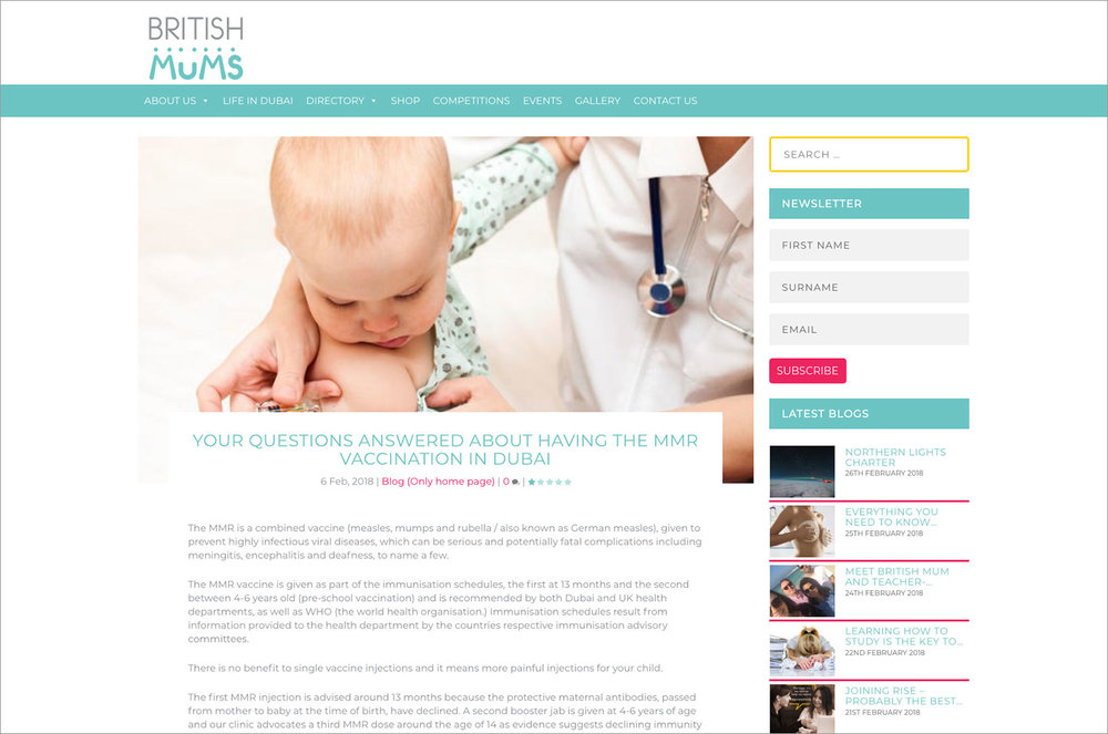 Keith Nicholl Medical Centre MMR Vaccine