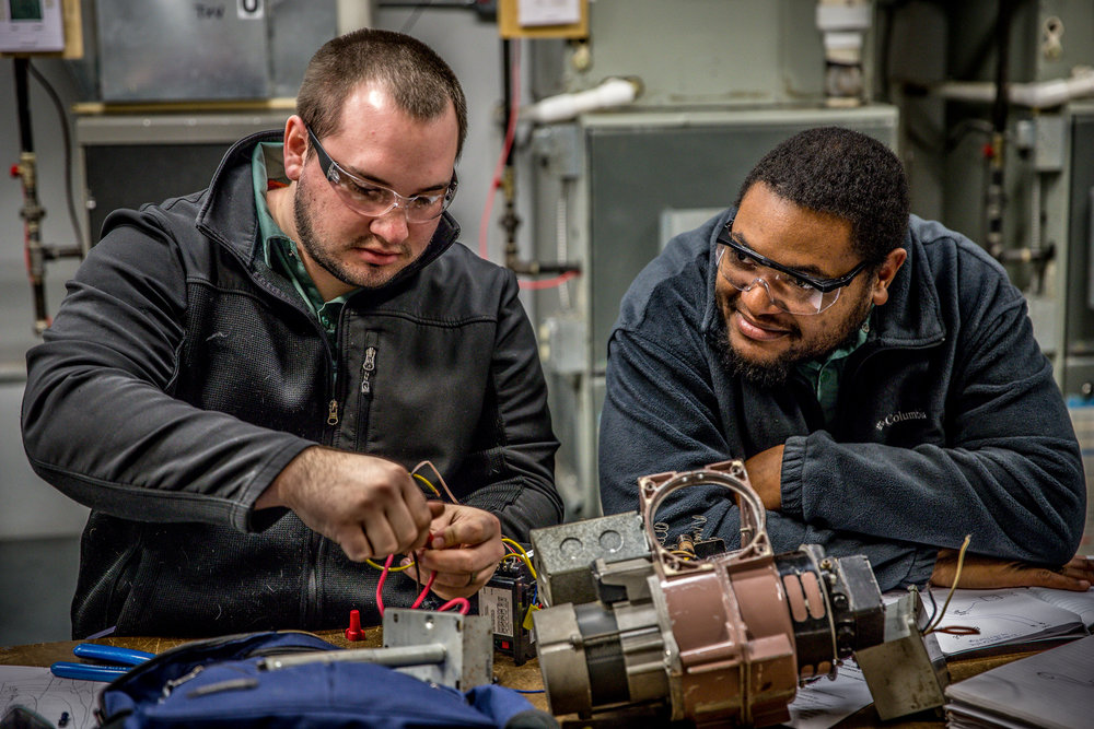 Refrigeration & A/C Technology - This program is designed to provide students with the entry level knowledge and skills to install and repair: heating, air conditioning and commercial/residential refrigeration equipment. The program covers in practice and theory the electrical requirements from power sources to circuits, diagnosing, troubleshooting, and installation of RHVAC equipment and systems including ductwork and sheet metal fabrication.