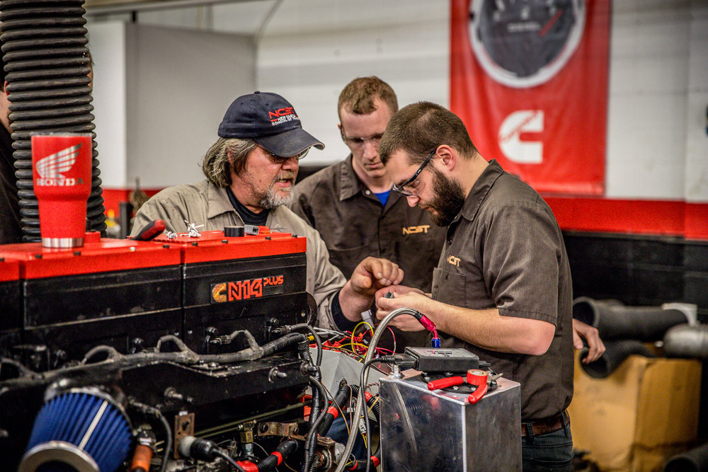 DIESEL & HEAVY EQUIPMENT REPAIR TECHNOLOGY - Graduates will have the ability to diagnosis troubles and disassemble diesel engines; replace pistons, bearings, gears, valves and bushings; install ignition systems; replace steering/suspension components; replace transmissions and parts; lubricate moving parts; diagnosis problems with and replace chassis assemblies; repair undercarriages and replace and repair pneumatic or hydraulic brake systems. These skills will be taught in both classroom and lab environments.