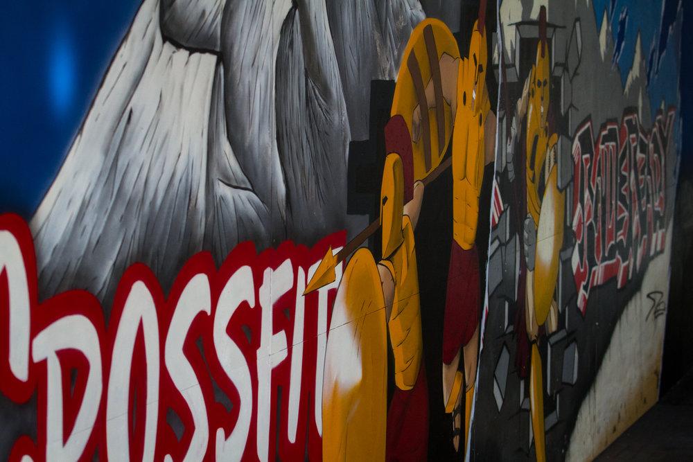 Crossfit battleready mural -