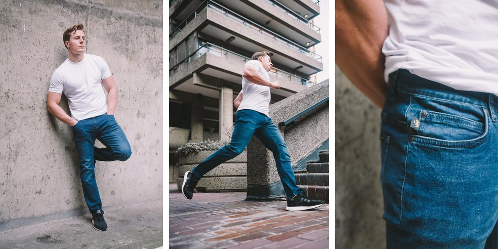 Athletic Fit Jeans - Stretch your limitations in our innovative HYPERstretch denim. Engineered to move, without losing shape, in a contemporary athletic fit that looks sharp in any situation. Upgrade your jeans today.