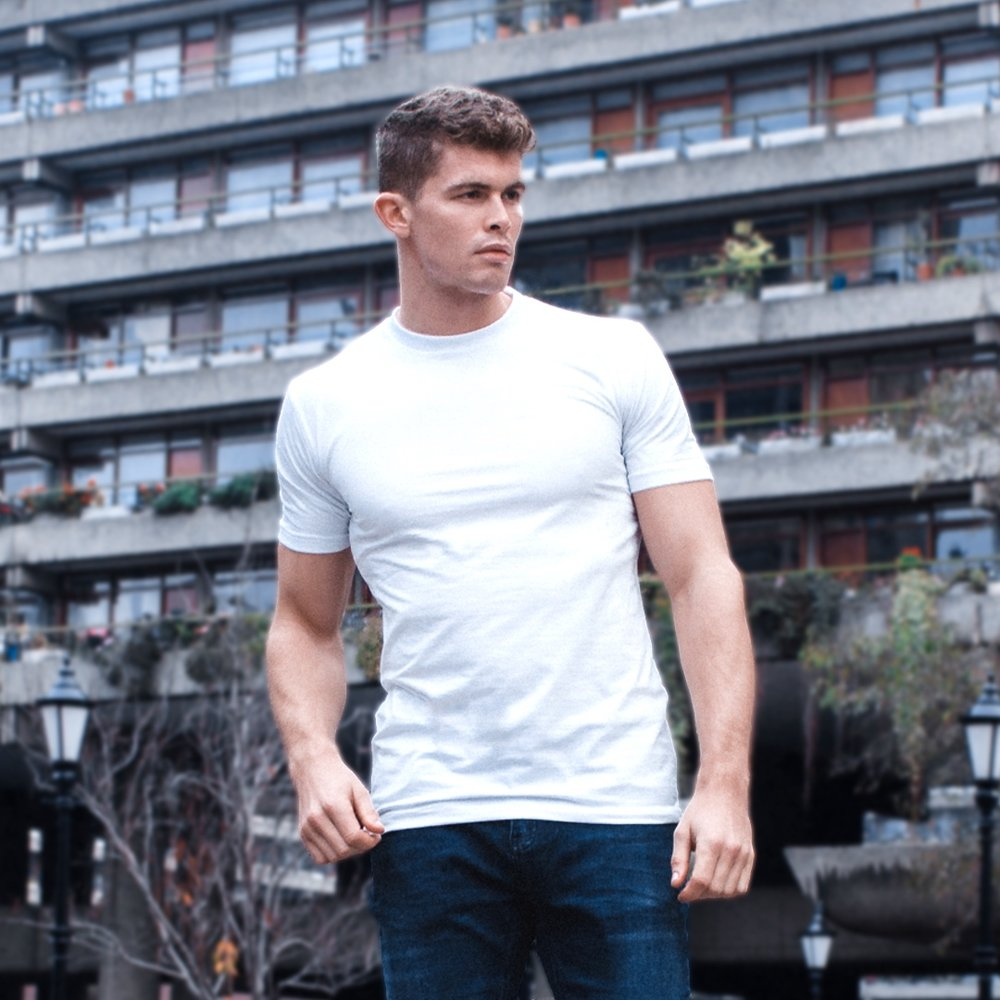 Pure White Muscle Tee - £39