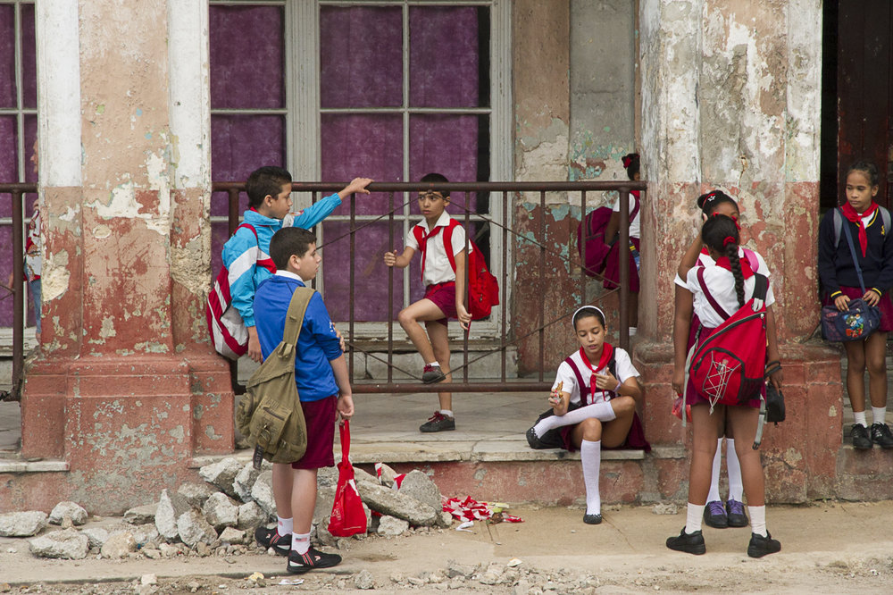 Schoolchildren, Havana   First Honors  for Cuba portfolio,     Images 2013, Guilford Art Center, CT