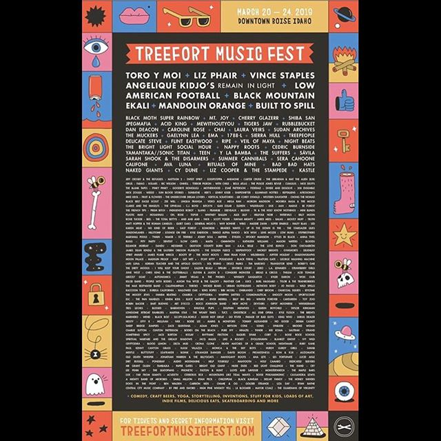 // Excited to announce we'll be playing Treefort Music Fest this March 20-24 in Boise, ID @treefortfest #treefort2019