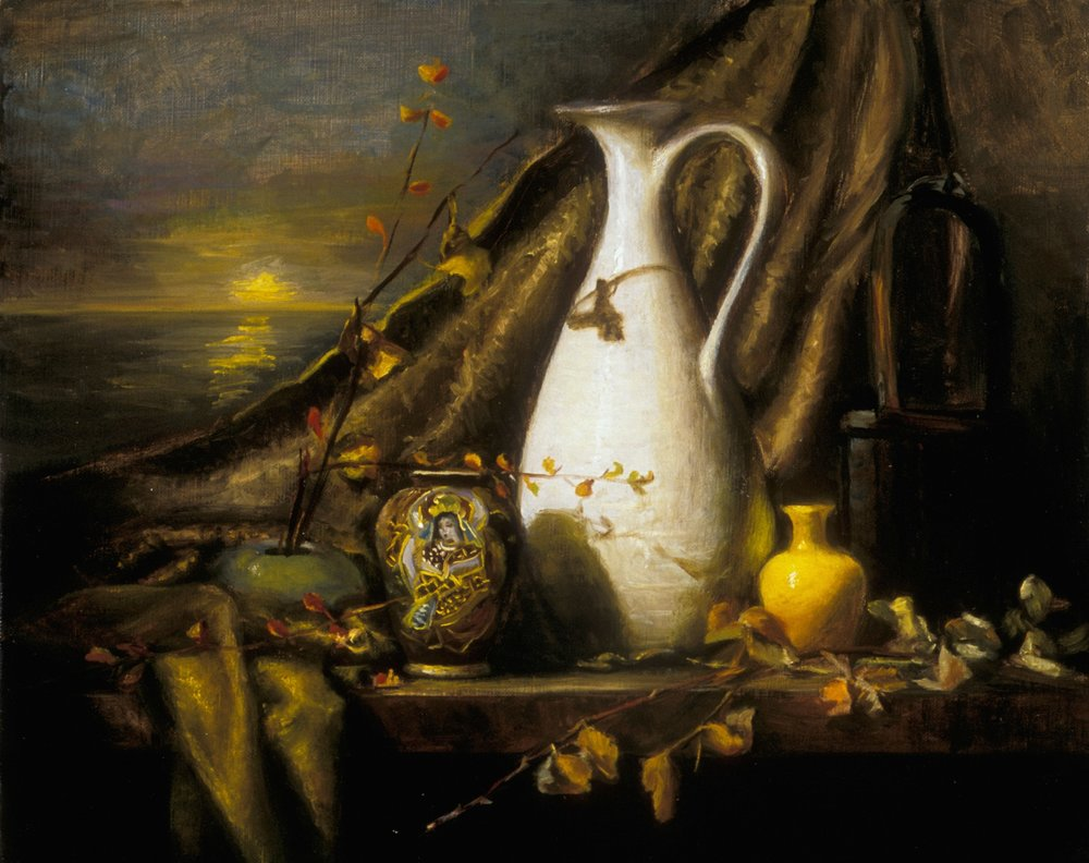 The White Pitcher and Japanese Vase