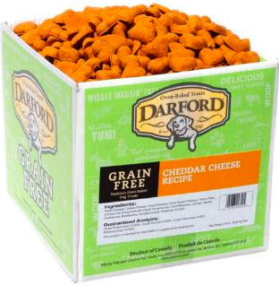 Darford biscuits are highly packed with antioxidants and vitamins for your dog's health! They're 100% natural, grain-free (no corn, soy, by-products, etc), and oven baked for a crunchy texture!