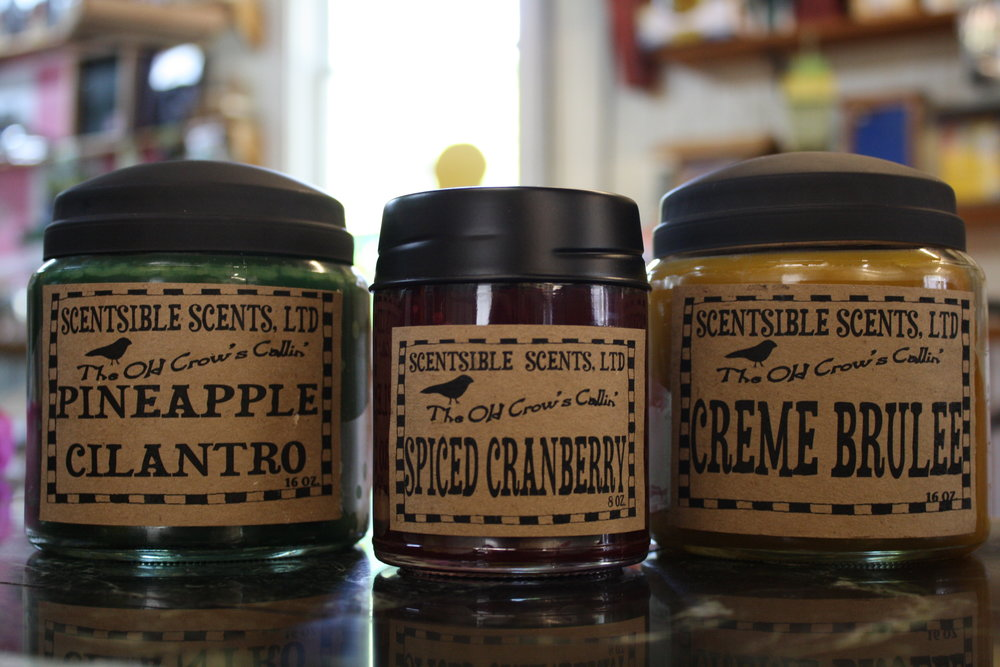 Locally crafted and hand-poured candles that are long lasting & great smelling!