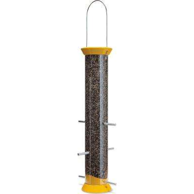 A great way for feeding finches! Attracted by the yellow color you will draw in finches from all over your neighborhood. Constructed of metal and polycarbonate. Lifetime warranty.