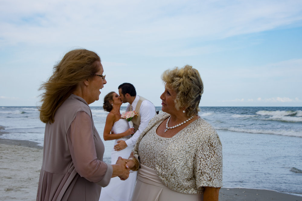 - Mothers of the Bride and Groom getting to know each other a little better after the wedding.