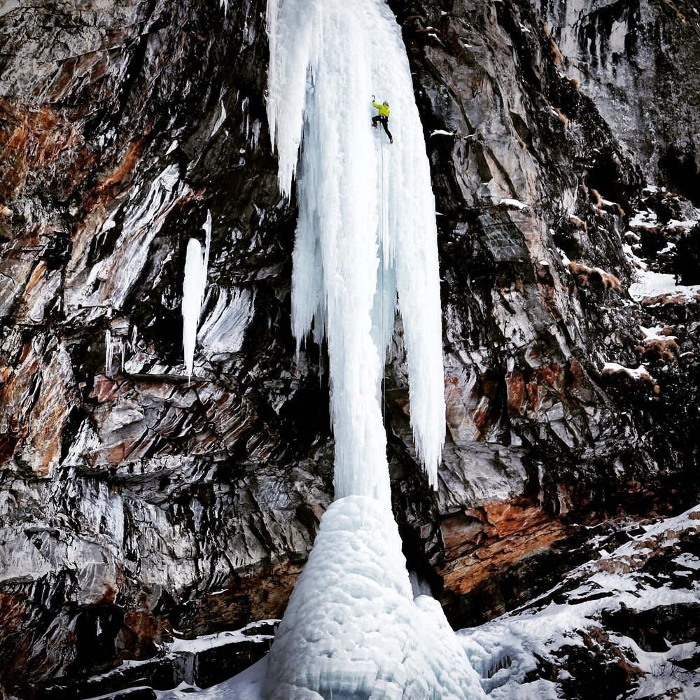 Matthias Scherer on Hard Ice Direct, Cogne, Italy - picture Heike Schmitt
