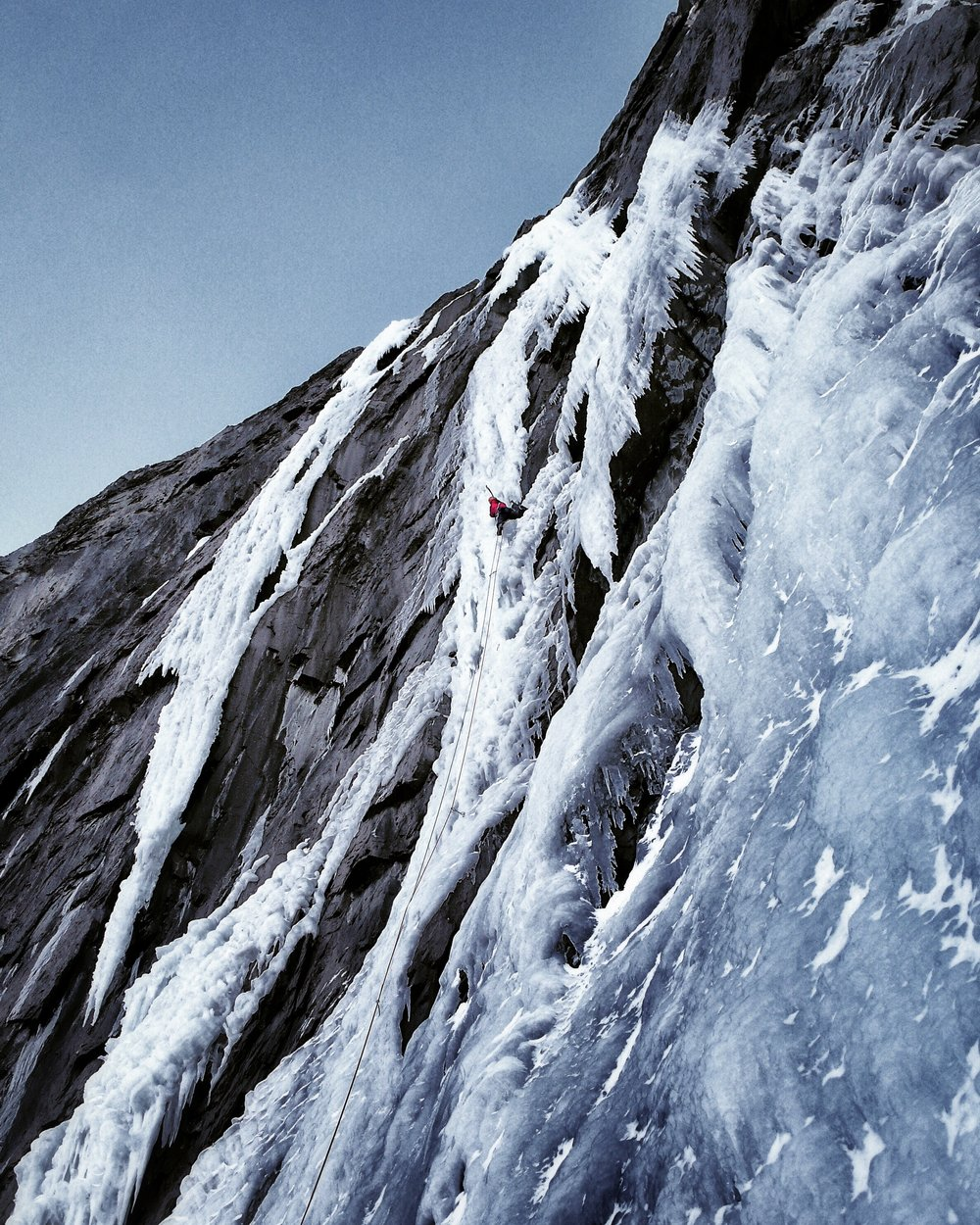 Matthias Scherer on The Replicant, Trophy Wall, Canada - picture Tanja Schmitt