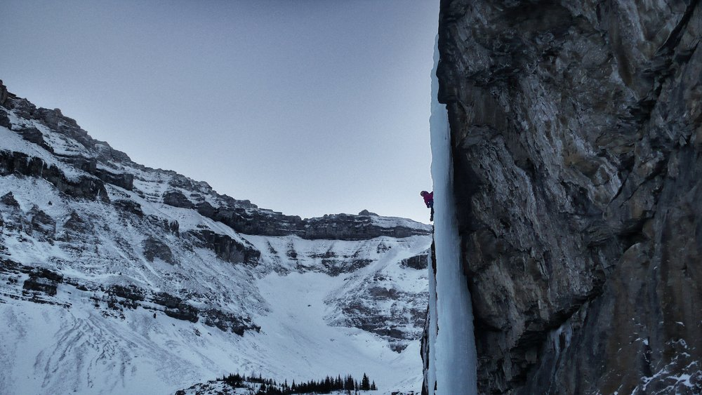 Matthias Scherer on Killer Pillar, Stanley Headwall, Canada - picture Tanja Schmitt