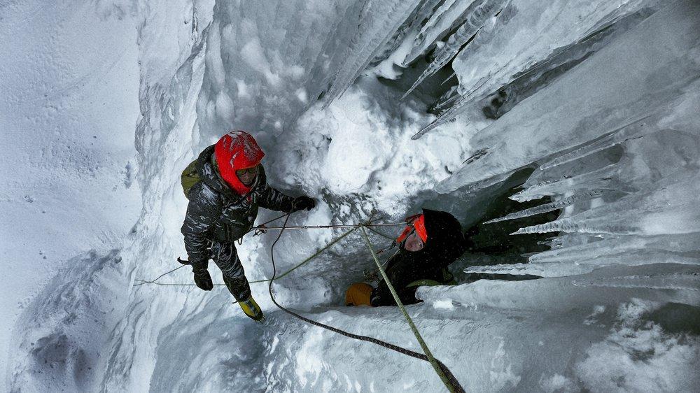 Matthias Scherer and Heike Schmitt on Hydnefossen, Hemsedal, Norway - picture Tanja Schmitt