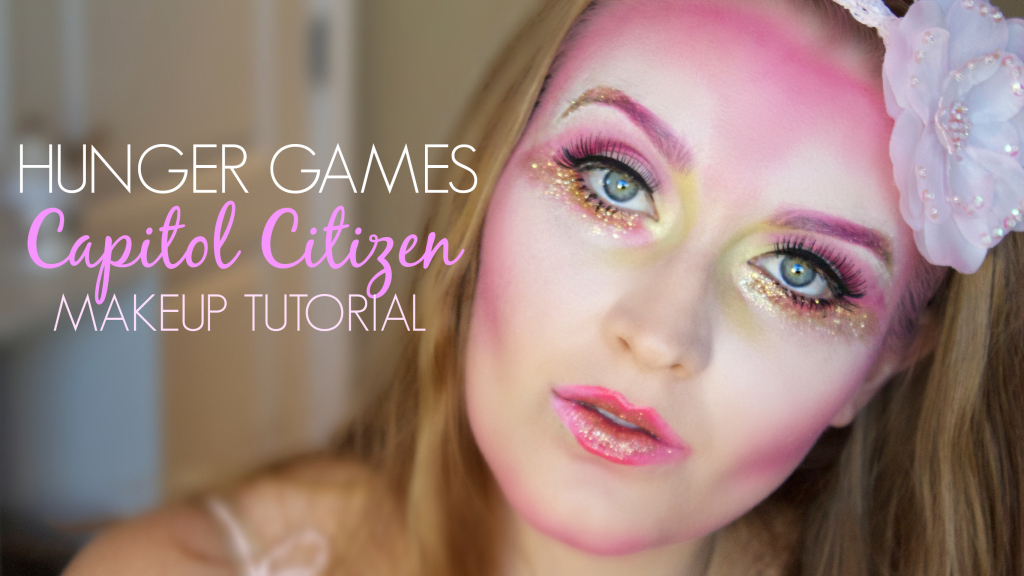 Hunger Games Capitol Citizen| Halloween Makeup Tutorial | www.annemariemitchell.com