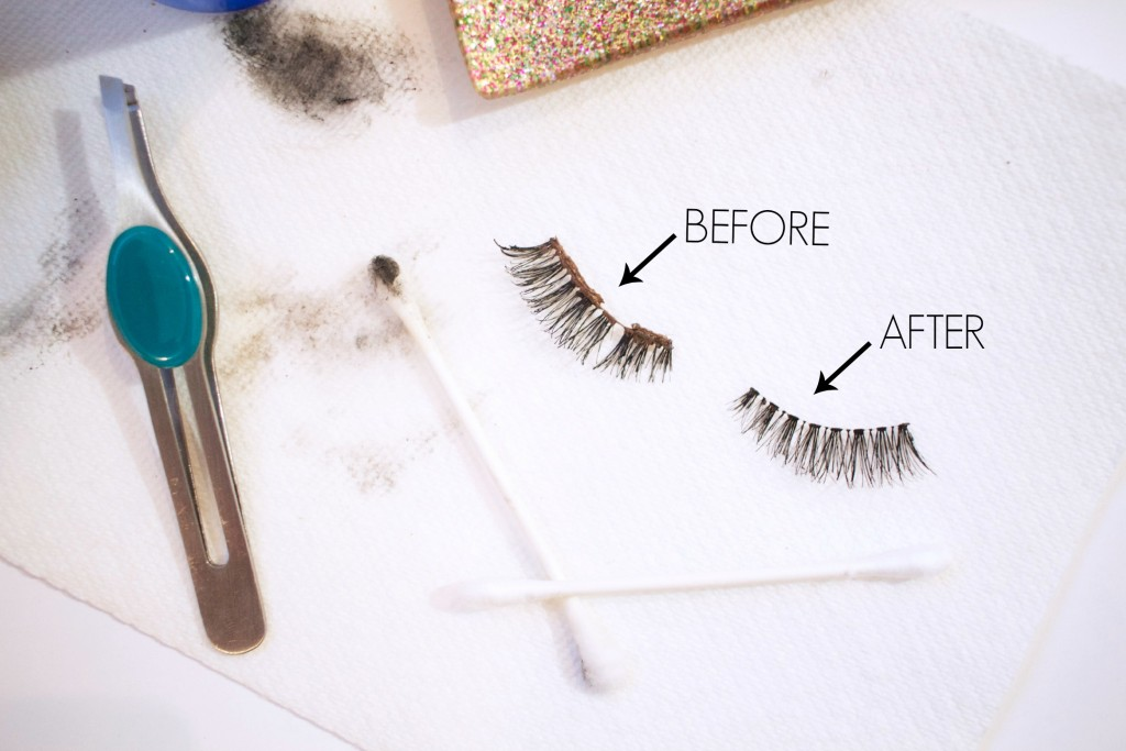 How to Clean False Lashes | www.annemariemitchell.com