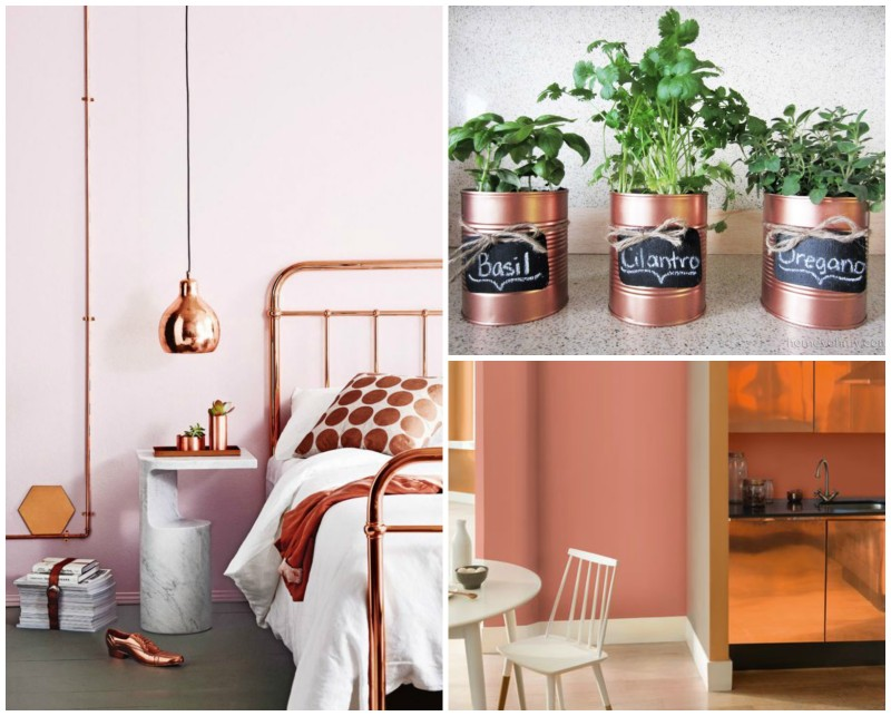 Decor Inspiration: Copper Blush Accents | www.annemariemitchell.com