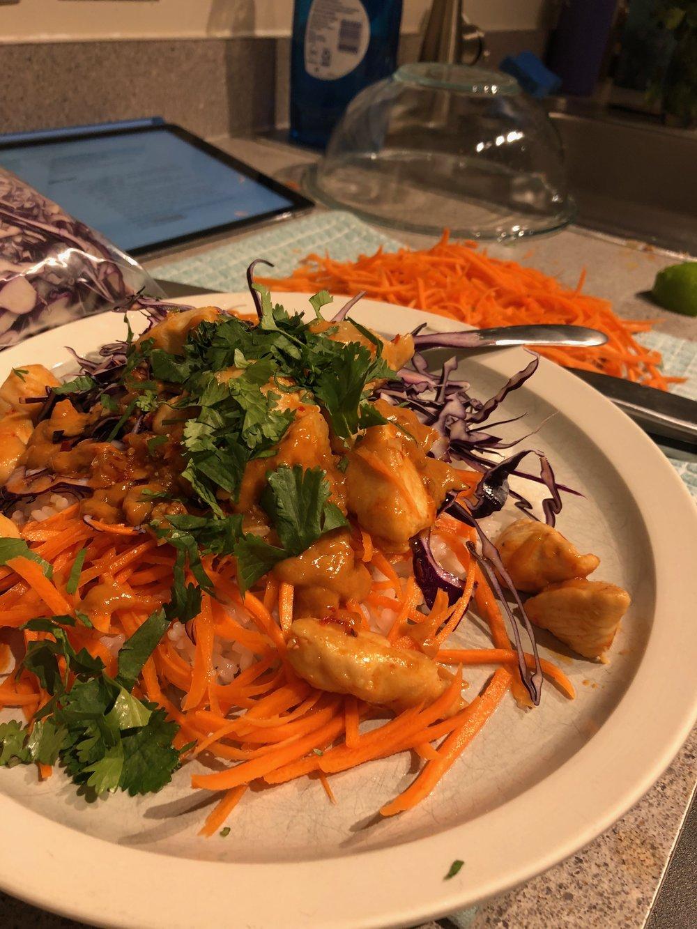 Thai Chicken Buddha Bowl