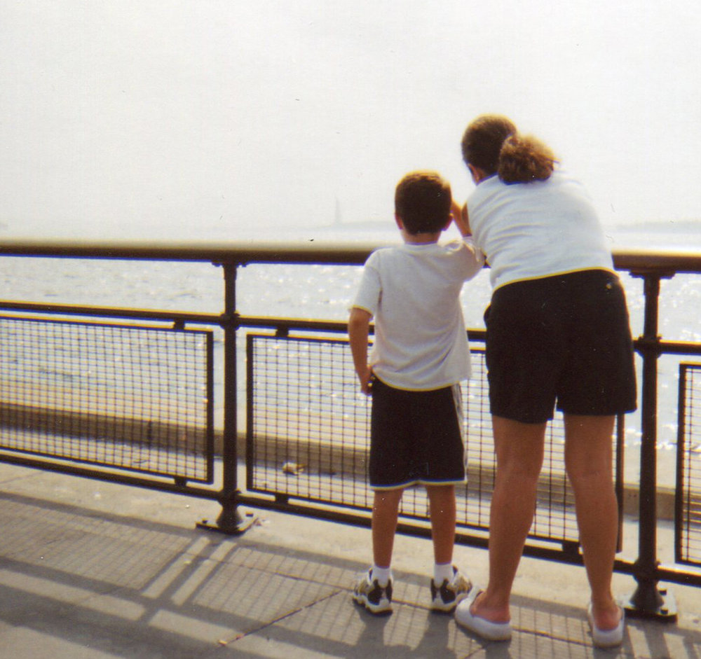 Looking at the Statue of Liberty, I learned early on that railings were a no-no.